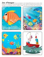 Jeu d'images - Les poissons