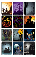 Jeu d'images-Halloween-Dans le noir