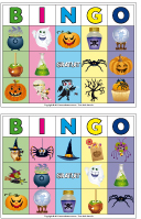 Jeu de bingo Halloween - nouvelle version