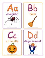 Jeux d'images-Abécédaire-Halloween