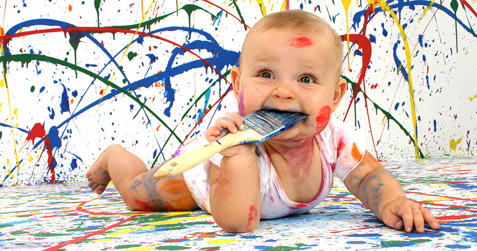 Peinture pour bébé 6 mois
