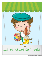 L artisanat activit s pour enfants educatout for Peinture sur toile pour salle de bain