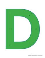Lettre D à enfiler