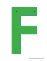 Lettre F à enfiler