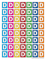 Lettres D miniatures