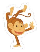 Marionnettes-Les singes