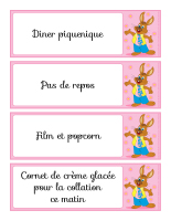 Mémos surprises-Jeannot lapin
