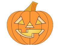 L 39 halloween lettres th matiques activit s pour enfants for Modele de citrouille a imprimer