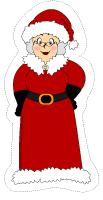 Modèles de pères Noël et mères Noël