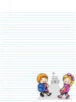 Papier à lettres - La maternelle