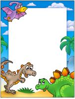 Papier à lettres - Les dinosaures