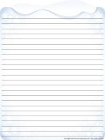 Papier à lettres-Janvier en blanc