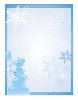 papier à lettre gratuit hiver
