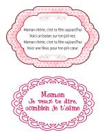 Poèmes-La fête des Mères