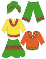 Poupées à habiller-L'Afrique