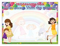 Programmation-Journée spéciale-Visite des mamans