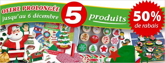 5 produits