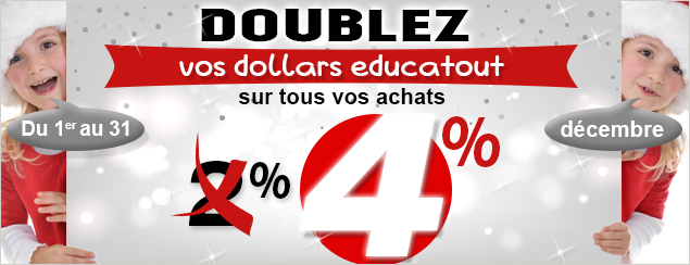 doublez vos dollars educatout