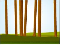 Scène de la forêt