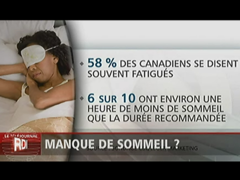 32% des Canadiens souffrent du trouble du sommeil