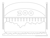 Tableau de feutrine-Le zoo