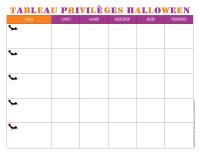 Tableau privilèges-Halloween