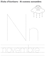fiches d&rsquo;&eacute;criture-N comme novembre