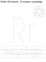 fiches d'écriture-R comme recyclage
