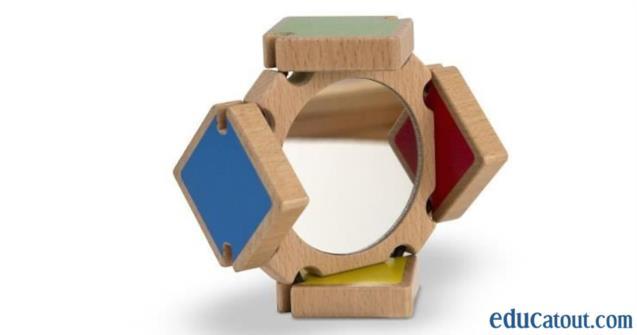 Miroir avec volets de couleur educatout for Miroir 3 volets