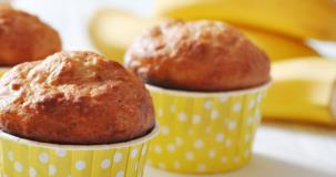 Muffins miniatures aux bananes