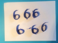 6 pétales en forme de 6-7