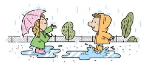 Activité estivale-il pleut on sort dehors