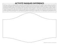 Activité masques différence