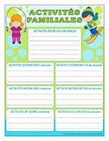 Activités familiales 2016