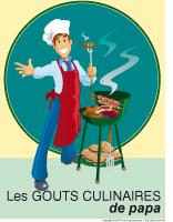 Affiche - Les gouts culinaires de papa