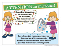 Affiche-Attention les microbes