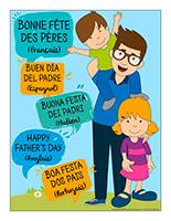 Affiche-Bonne fête des Pères
