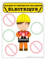 Affiche-Dangers et prévention des risques électriques