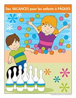 Affiche-Des vacances pour les enfants à Pâques
