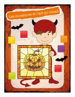 Affiche-Halloween-Ateliers créatifs-Les mosaïques et l'art du vitrail
