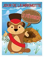 Affiche-Jour de la marmotte-2 février