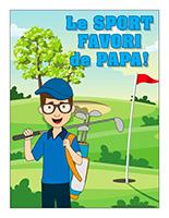 Affiche-Le sport favori de papa