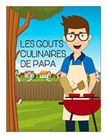 Affiche-Les gouts culinaires de papa