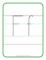 Affiche-Lettre Ff