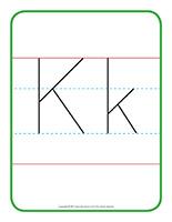 Affiche-Lettre Kk