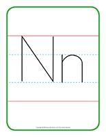 Affiche-Lettre Nn