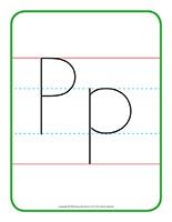 Affiche-Lettre Pp écrire activité