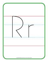 Affiche-Lettre Rr