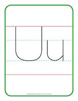 Affiche-Lettre Uu
