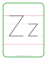 Affiche-Lettre Zz
